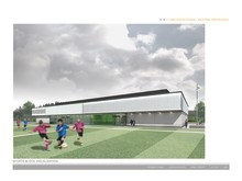 artist's impression of 3g pitch Elgin High School