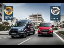 Fords varebiler høster guld og sølv i sikkerhed hos Euro NCAP