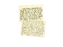 Brevet Greta skrev men aldrig skickade till sin professor Sune Lindqvist. Från ATA.
