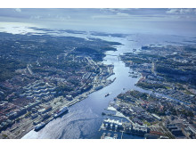 The Port of Gothenburg from above