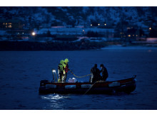 Retting av sjøkabel på Lopphavet