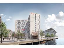 Rendering af kommende Scandic-hotel