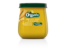 Organix just corn, apple & pineapple