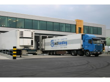 Truck docking at Brussels Airport