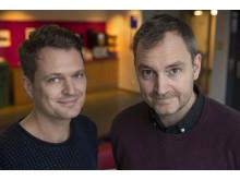 Daniel Velasco och Robert Barkman, nominerade i kategorin Årets Berättare 2018