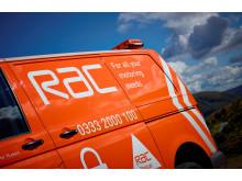 Side of RAC van in sunlight