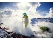 Steaming av turbinfundamenter Roan vindpark