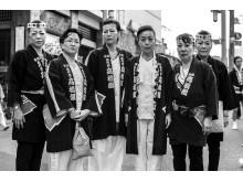 2015, Asakusa, Tokyo. Women from the group during the Sanja matsuri (Japanese festival).
