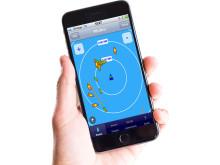 iAIS app with hand