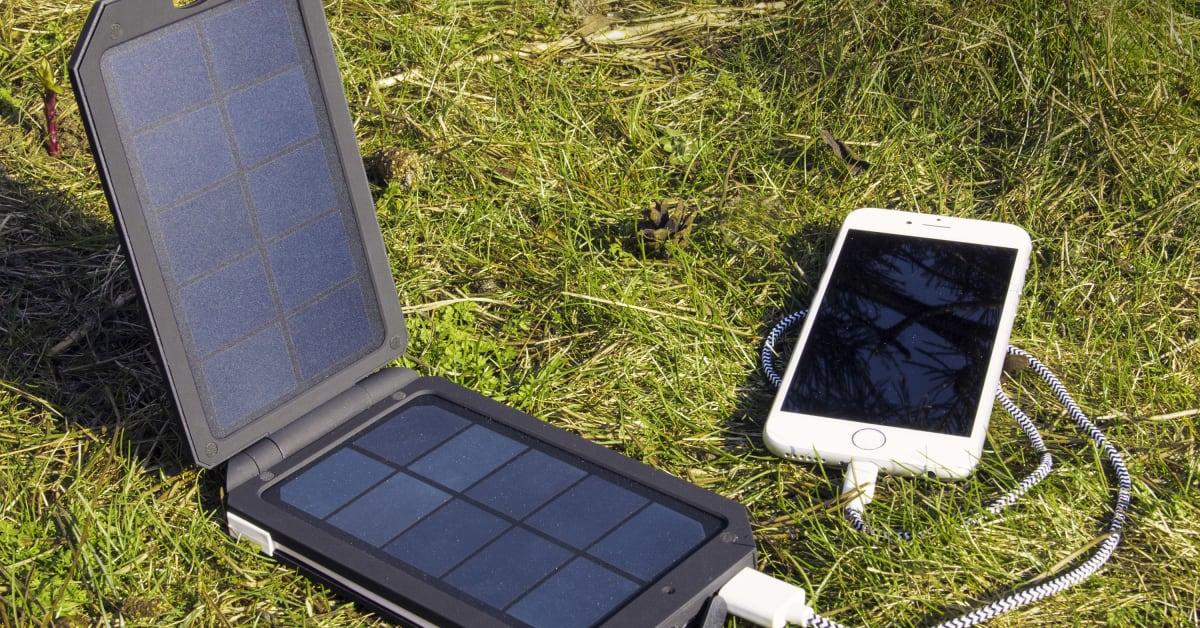 Solcellelader fra Vooni til mobil og nettbrett. CoolStuff