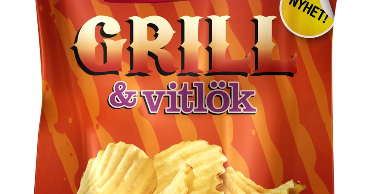 Grill & Vitlök Chips Estrella, 300g   Nätmat