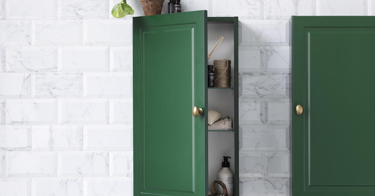 Stil väggskåp grön NCS Svedb
