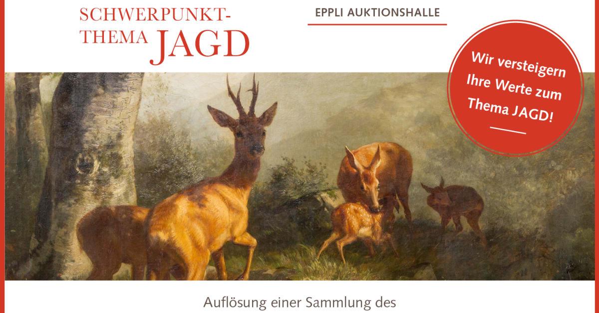 Karl Friedrich Deiker Jagdszenenmaler Düsseldorfer Schule Holzstich E 25617