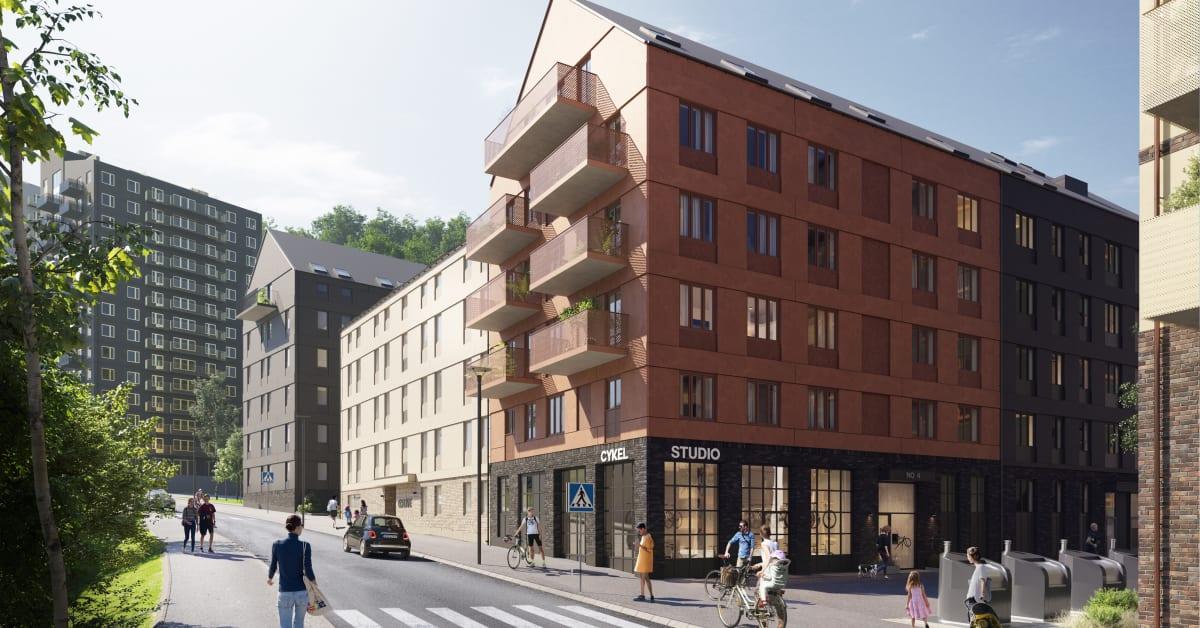 Wallenstam och Colive får bygglov för colivingbostäder i Kallebäcks terrasser i Göteborg