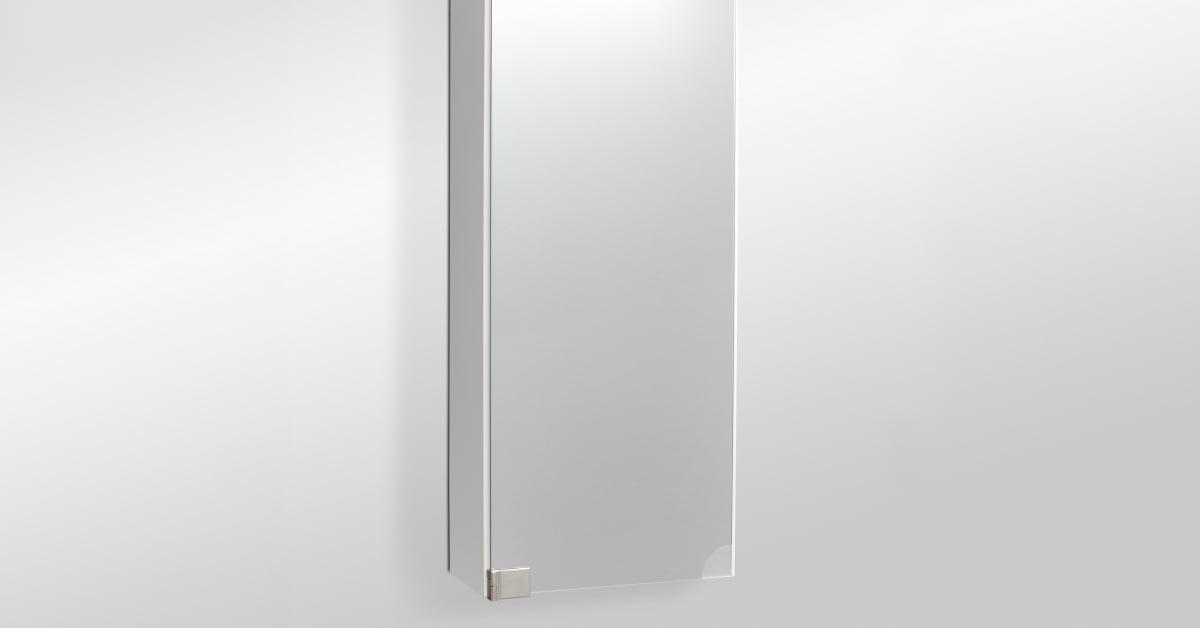 Sidoskåp Smaragd med spegeldörr och belysning Fagersta Hygien AB