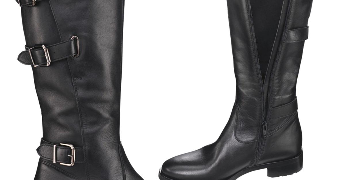 Svarta stövlar med justerbar skaftvidd | JOBI Footright AB