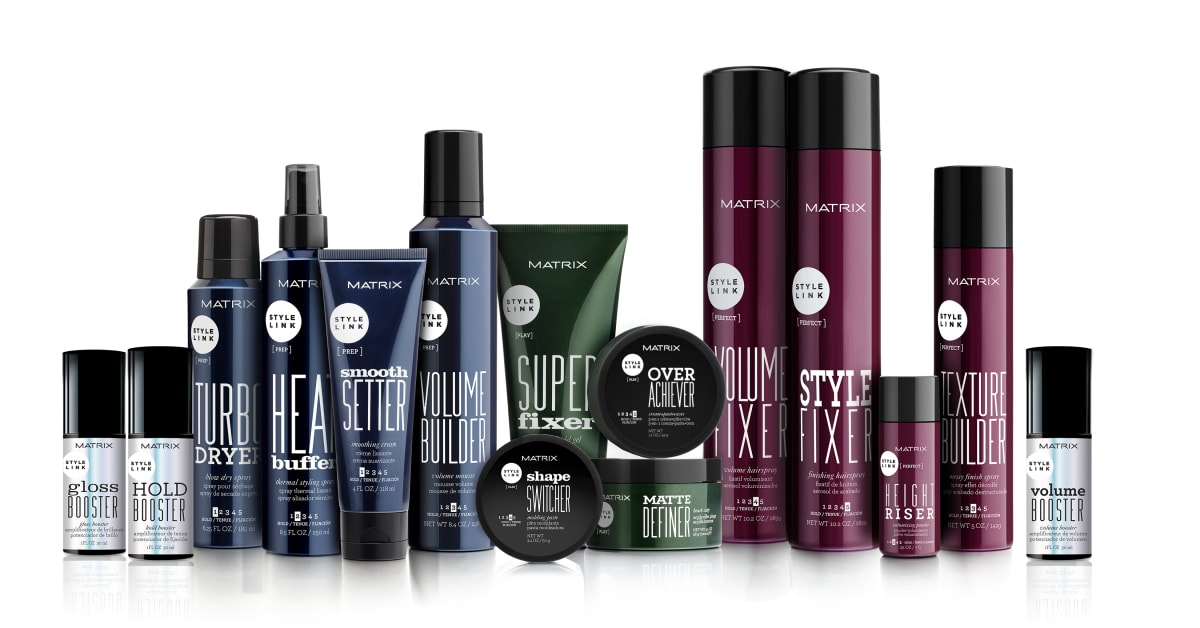 hair styling products matrix style link l or 233 al professional products division 1193