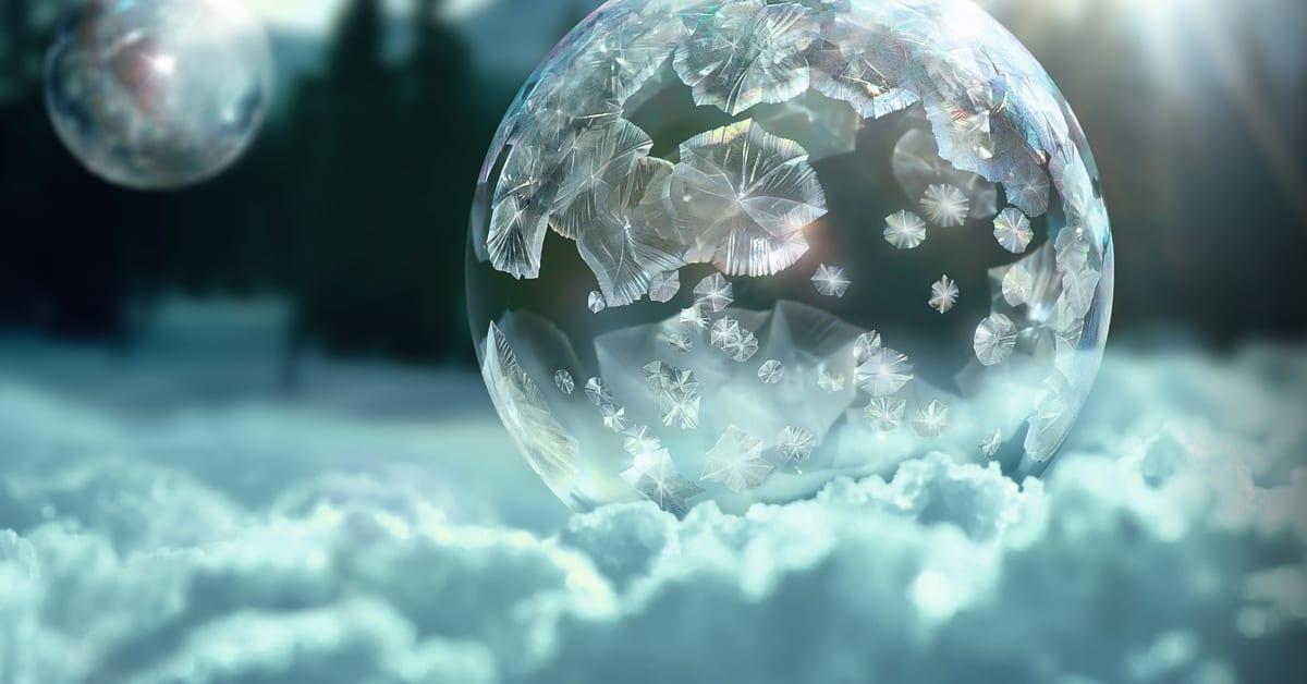 sony captures unique natural phenomenon of bubbles