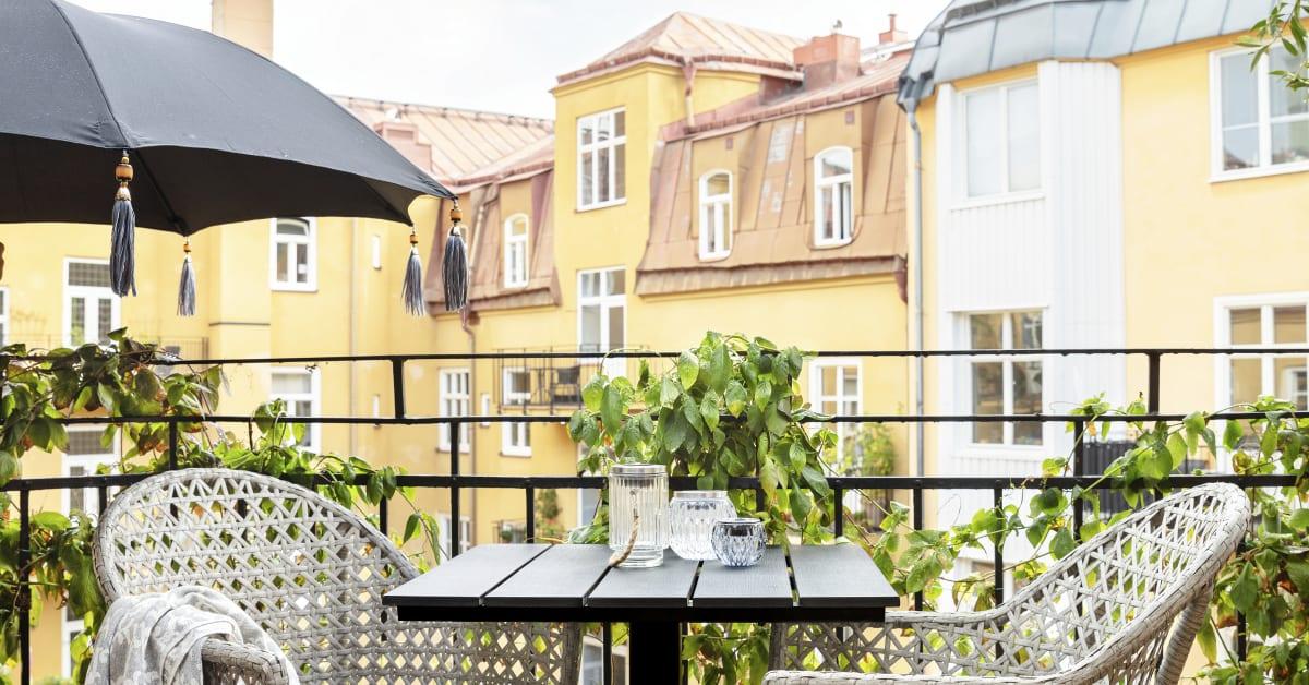 Rusta_S2 2020 bord Milano 62cm stol Prag | Rusta