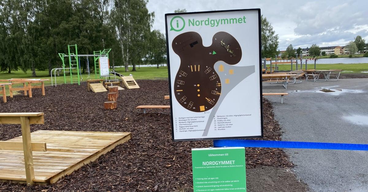 Sparbanken Nord inviger nya utegymmet i Boden
