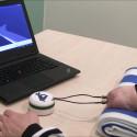 The patient commanding a virtual arm