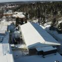Drönarfilm över fastigheterna i Skellefteå, februari 2021