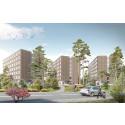 Lindbäcks bygger forskarbostäder åt Akademiska Hus i Solna