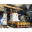 Unloading of hydraulic press in Brazil