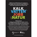 Pressinbjudan: Forum om hållbarhet - kalk, vatten, jobb, natur (22 januari, Visby)