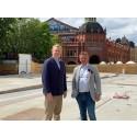 Återvinning från tillfälliga Östermalmshallen blev gåva till Stockholms Stadsmission