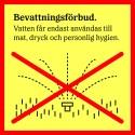 Bevattningsförbud  Ostnäs, Skeppsvik, Ivarsboda och Norrfjärden