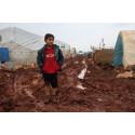 Iskald vinter for barna i Syria