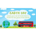 LEAVE YOUR CAR AT HOME TWICE A MONTH FOR THE PLANET URGES CAROUSEL BUSES