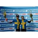 Emil Lindgren och Jennie Stenerhag försvarade mästartitlarna i MTB Maraton