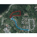 Anslutningsväg till det nya bostadsområdet på Präst Källa