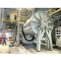 Heavy drum mill after final lifting