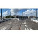 Hisingsbron öppnar för spårtrafik