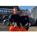 Renovasjon under krisen: Terese og Tobias er med på å holde samfunnet i gang