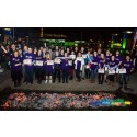 35 people from across Bristol walk over hot coals for stroke