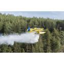 Nu ställs mindre skopande flygplan i beredskap för skogsbränder