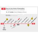 Buss for T-bane på linje 2 i helgen