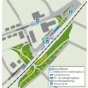 Karta över hur området runt Furulund station kommer att se ut.