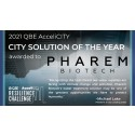 Pharem declared global winner and City Solution of the Year in the 2021 QBE AcceliCITY Resilience Challenge