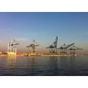 Cranes in the Port of Antwerp, Belgium