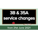 3B and 35A service changes from 21st June 2021