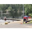 Första dagen på simskolan vid Bergsjöbadet