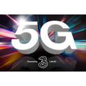 3 lancerer 5G i dag