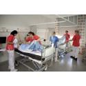 Sjuksköterskestudenter på digital avslutning