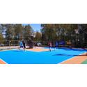 Hammarö Basketklubb löste utomhusträningen med en 3x3 basketplan genom projektet Nothing But Net