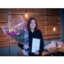 Grattis My Bergström – den första pristagaren i Piteå Business Awards 2020